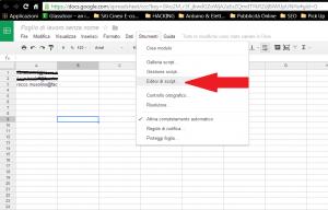 Fogli di calcolo google drive