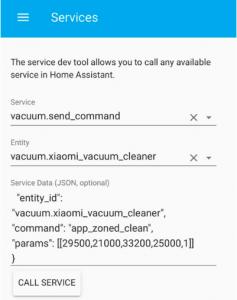 Test del comando app zoned clean nello strumento di sviluppo del servizio in Assistente domiciliare